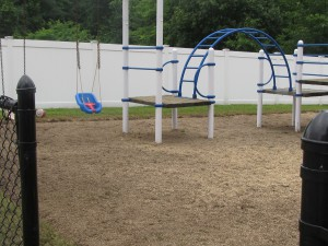 Forbes House has a pristine playground for children to play on thanks to two teams of Day of  Caring volunteers from Avery Dennison. The volunteers also raked leaves on the property,  added top soil and grass seed where needed and trimmed trees along the driveway for good  measure.