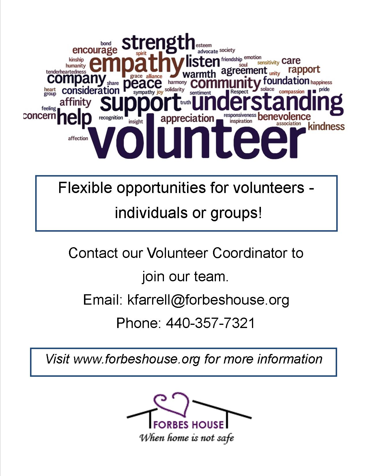 Volunteer with Forbes House