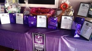 Chinese Raffle Prize Table at Tackle Domestic Violence Event in October 2016