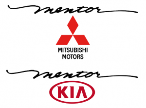 Mentor Mitsubishi and Kia logos